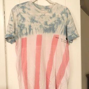 Men's Volcom American Flag Tee
